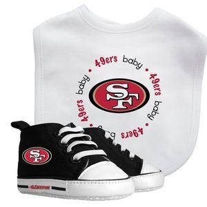 NFL San Francisco 49'ers Baby Bib & Pre Walker Set